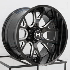 Hostile Wheels H113 Rage Black Milled