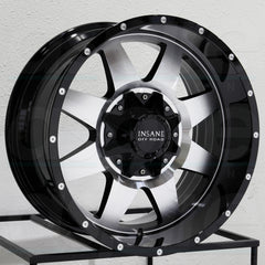 Insane Wheels IO-04 Gloss Black Machine Face