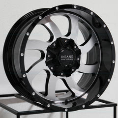 Insane Wheels IO-05 Gloss Black Machine Face