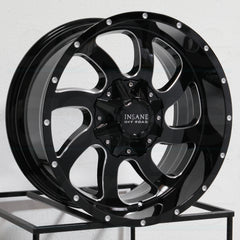 Insane Wheels IO-05 Gloss Black Milled