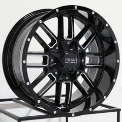 Insane Wheels IO-07 Gloss Black Milled