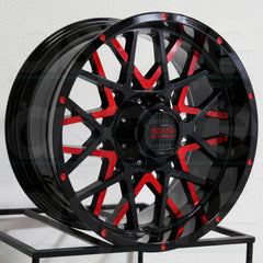 Insane Wheels IO-10 Gloss Black Red Milled