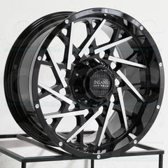 Insane Wheels IO-11 Gloss Black Machine face