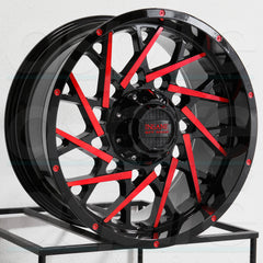 Insane Wheels IO-11 Gloss Black Red Milled