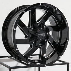 Insane Wheels IO-12 Gloss Black Milled