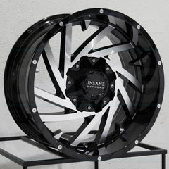 Insane Wheels IO-13 Gloss Black Machine Face