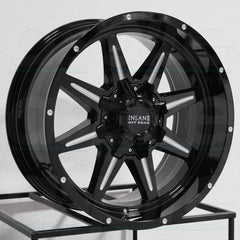 Insane Wheels IO-15 Gloss Black Milled