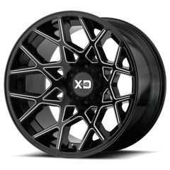 XD Wheels XD831 Chopstix Black Milled