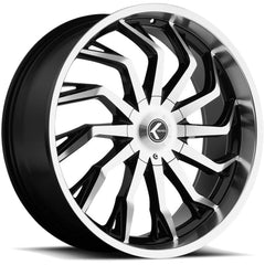 Kraze Wheels KR142 Scrilla Black Machined