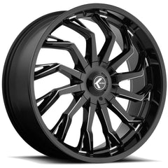 Kraze Wheels KR142 Scrilla Black Milled