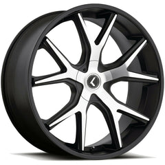Kraze Wheels KR146 Spltz Black Machined