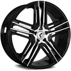 Kraze Wheels KR157 Hella Black Machined