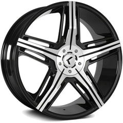 Kraze Wheels KR158 Hype Black Machined