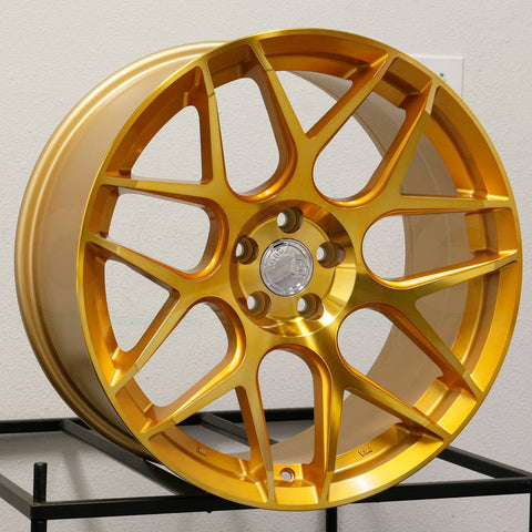 Aodhan Wheels LS002 Gold Machined Face