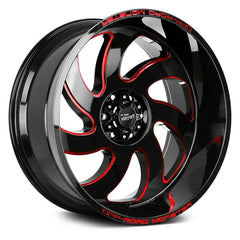 Off-Road Monster Wheels M07 Black Milled Red