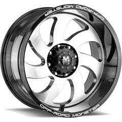 Off-Road Monster Wheels M07 Black Machine
