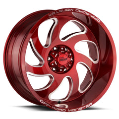 Off-Road Monster Wheels M07 Candy Apple Red