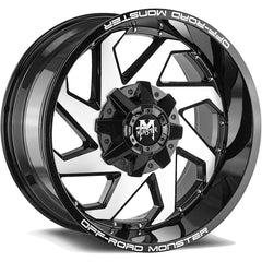 Off-Road Monster Wheels M09 Black Machine