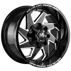 Off-Road Monster Wheels M09 Black Milled