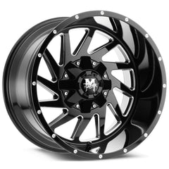 Off-Road Monster Wheels M12 Black Milled
