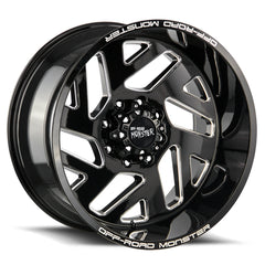 Off-Road Monster Wheels M19 Flat Black Milled