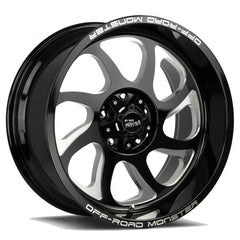 Off-Road Monster Wheels M22 Flat Black Milled
