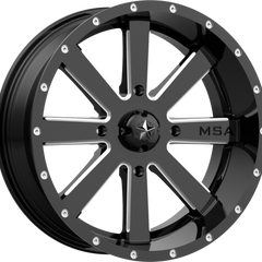 MSA Off-Road Wheels M34 Flash Gloss Black Milled