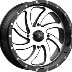 MSA Off-Road Wheels M36 Switch Machined Gloss Black