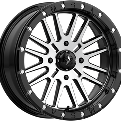 MSA Off-Road Wheels M37 Brute Beadlock Black Machined