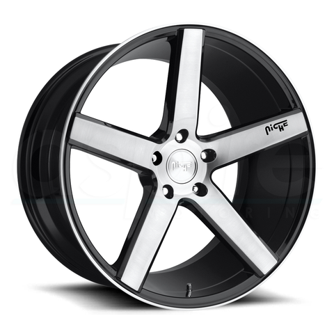 Niche Wheels Milan M124 Black Machined