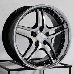 MRR Wheels RW2 Black Chrome Lip
