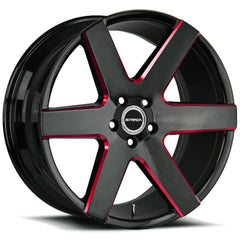 Strada Wheels S60 Coda Black Milled Red
