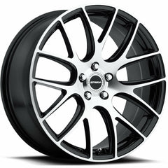 Strada Wheels S44 Fuso Black Machine