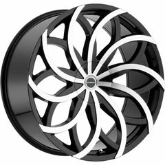Strada Wheels S61 Huracan Black Machine