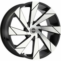 Strada Wheels S62 Moto Black Machine
