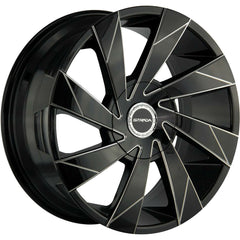 Strada Wheels S62 Moto Black Milled Line
