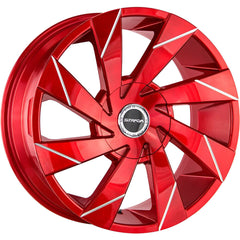 Strada Wheels S62 Moto Candy Apple Red