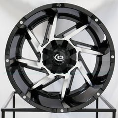 Vision Wheels 422 Prowler Black Machined