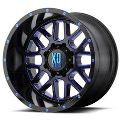 XD Wheels XD820 Grenade Black Milled Blue