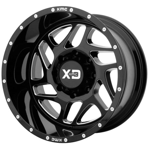 XD Wheels XD836 Fury Black Milled