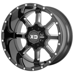 XD Wheels XD838 Mammoth Black Milled