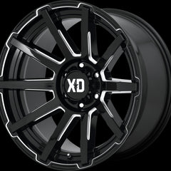 XD Wheels XD847 Outbreak Black Milled
