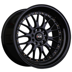 XXR Wheels 521 Black Gold Rivets