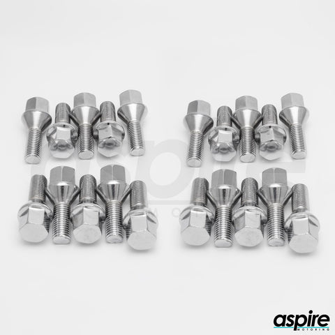 Spline Chrome Hexagonal Lug Bolts