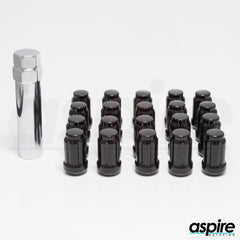 Black Spline Lug Nuts