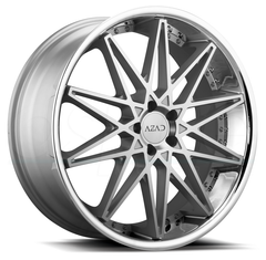 Azad Wheels AZ41 Silver Machine Face