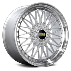 BBS SUPER RS Silver with Dia-Cut Rim and Clear Coat