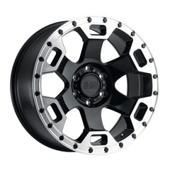 Black Rhino Wheels Gauntlet Black Machine Edge
