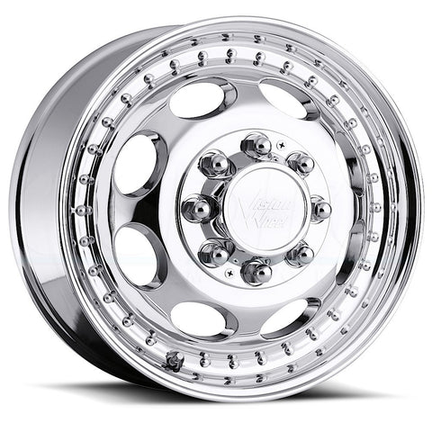 Vision HD Wheels 181 Hauler Duallie Machined Front