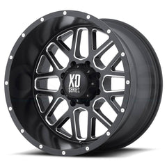 XD Wheels XD820 Grenade Black Milled